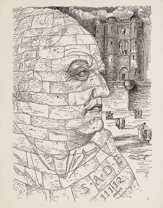 曼·雷《萨德肖像》