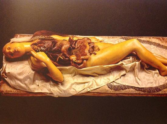 女性解剖蜡像