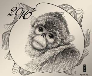 《灵猴献瑞》纯银台细节历