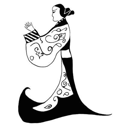 楚国妇女梳椎髻