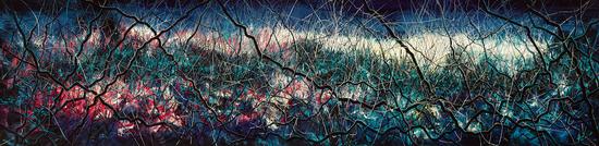 《无题》(2015),布面油画,200 x 800厘米,图片:致谢高古轩