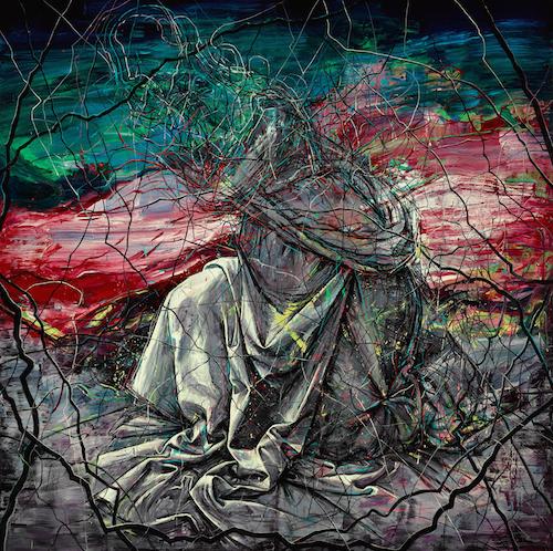 《昨天》(2015),布面油画,400 x 400厘米,图片:致谢高古轩