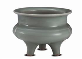 南宋龙泉窑青釉鬲式炉