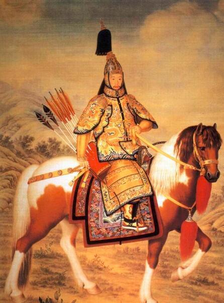 《乾隆皇帝大阅图轴》清代郎世宁