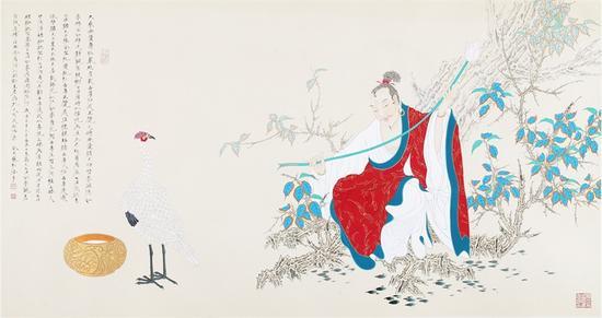 李巍松 菩提正觉图 93×185厘米 2013年 李巍松