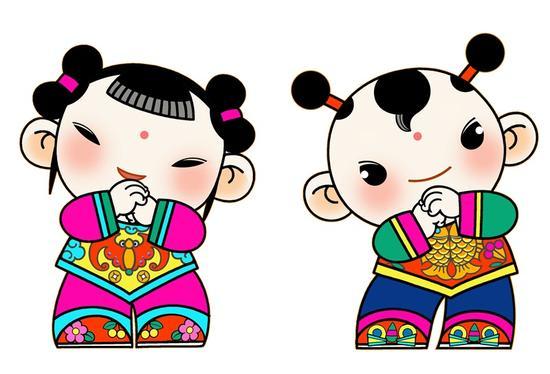 中华春节吉祥物在北京人民大会堂发布