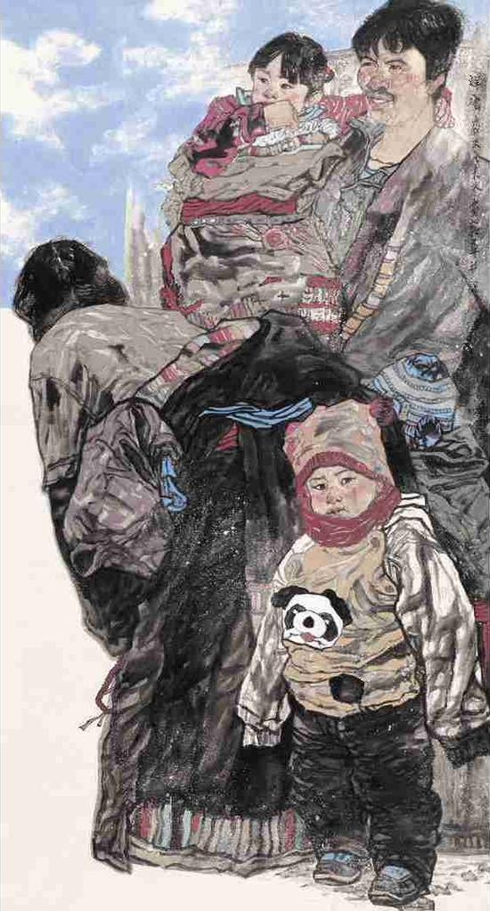 中国书画 > 正文    河南大学艺术学院教授,著名人物画家丁中一先生则图片