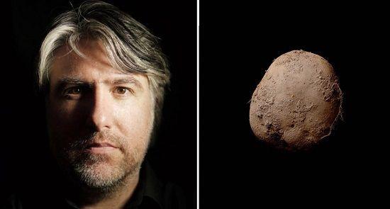 """凯文·阿博什和他拍摄的""""土豆照"""""""