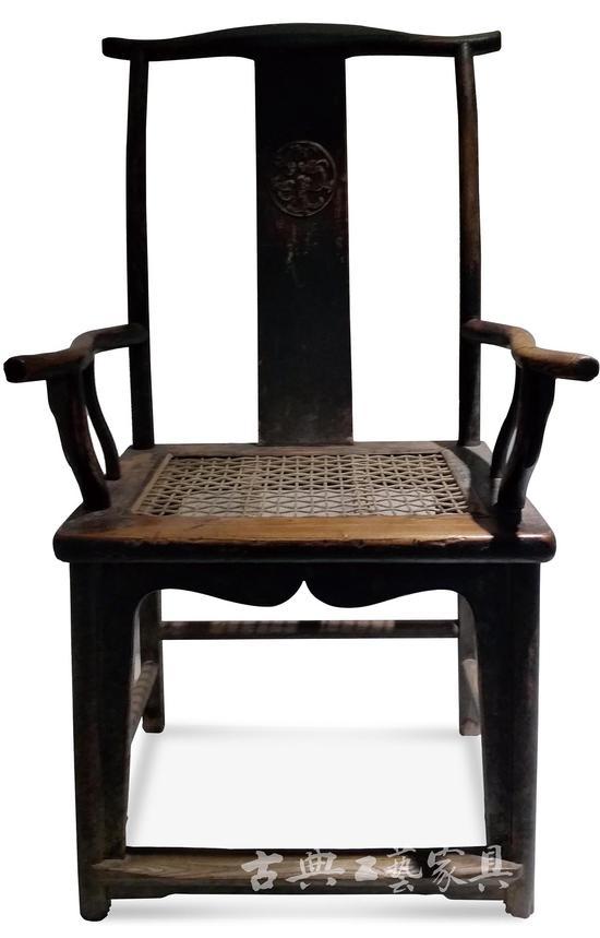 榆木四出头椅