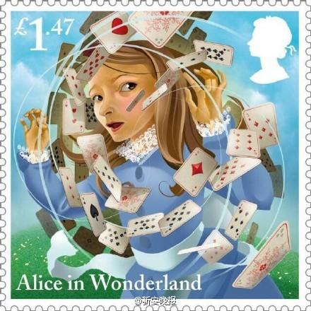 《爱丽丝梦游仙境》150周年纪念邮票
