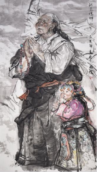 陈燕侬作品——阿尼玛卿山下