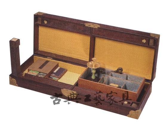 清中期 乾隆御用活腿文案桌(叠桌)折叠状态