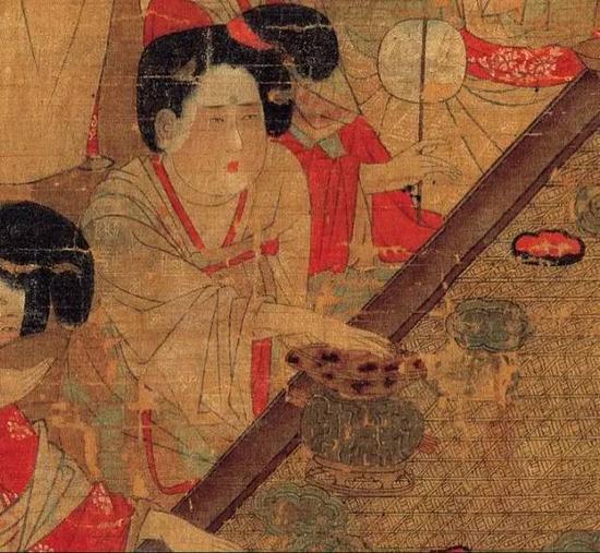 唐人宫乐图(局部)  佚名  唐