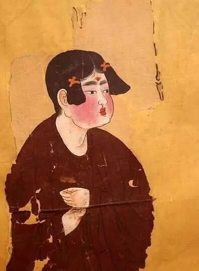 弈棋仕女图(局部)  壁画  唐