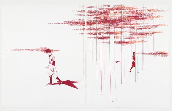 布里奇特·瓦尔达赫,《德国秋天II》(三联画)(Deutscher Herbst II) 图片:Brigitte Waldach。 (非巴里摩尔的藏品)
