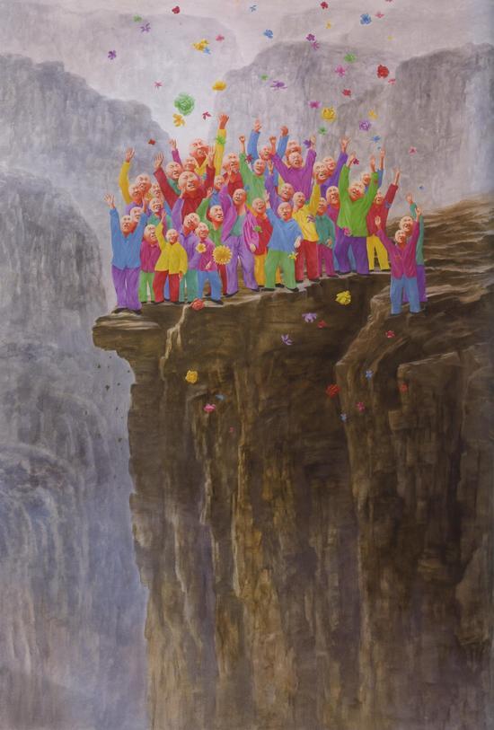 方力钧-2007-2008 360x250 油彩、画布 2007-08 私人收藏