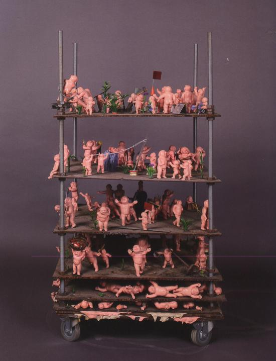 方力钧-2007.8.5 63x63x101cm 综合媒体 2007 艺术家自藏