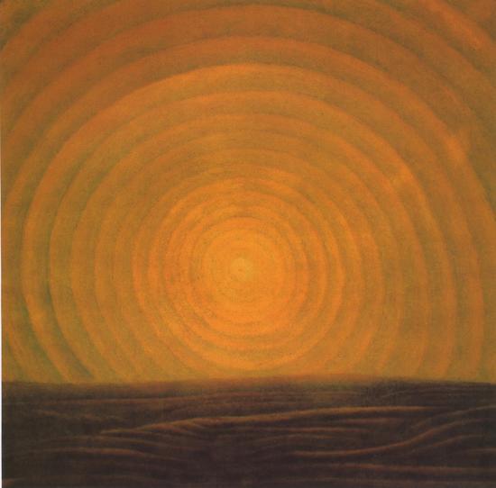 方力钧-无题 60x60cm 不透明水彩、纸 1984年 艺术家自藏