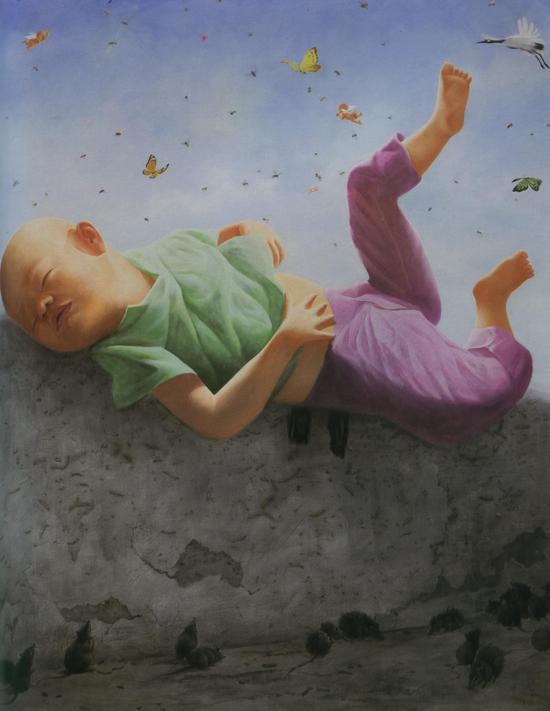 方力钧-2008.6.1 180x140 油彩、画布 2008 私人收藏