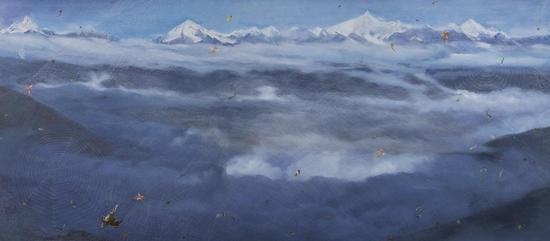 方力钧-2011-2013 120×270cm 布面油画 2011-2013
