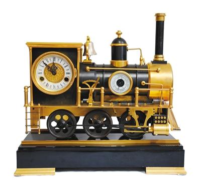 法国火车头座钟