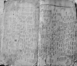 """乾隆三十五年《彰德府志》里的""""临漳县地舆图""""。"""
