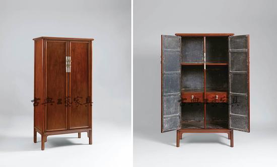 明末清初 黄花梨圆角柜,成交价966万元。