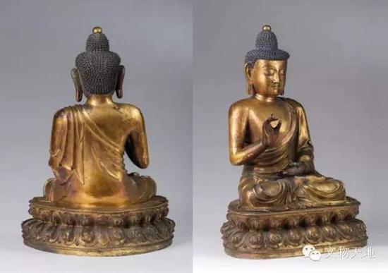 波利斯卡尤拍卖的铜鎏金不空成就佛  高55厘米