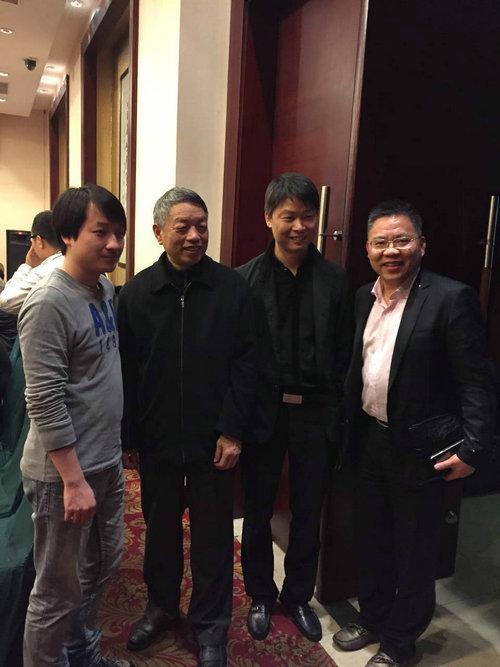 易金集团常务副总王斌先生与沈鸣镝先生、陈宝祥先生合影