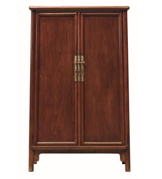 又使得柜门打开后可自行关闭,颇为巧妙,无疑令圆角柜设计成为明式家具图片