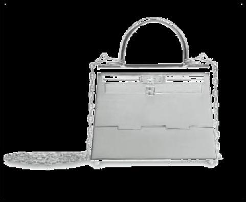罕见纯银迷你凯莉包 爱马仕1990年代三级评价 13 x 10 x 6 公分 估价:港币150,000-200,000(美元20,000-26,000)