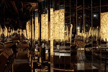 """张鼎在作品""""龙争虎斗""""中的装置局部,伦敦当代艺术学院,2015年10月12日至25日"""