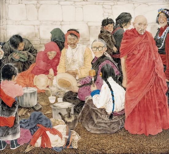 《朝圣者的聚餐》124×150cm 1999 副本