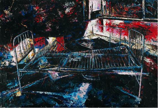 饶松青《遗忘的空间》布面油画 160 x 130 cm 2015