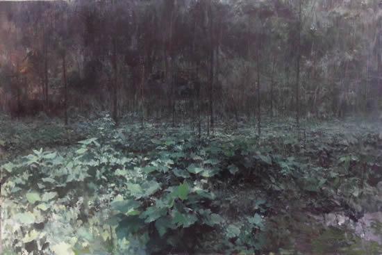单飞达《树林》 150X100cm 布面油画 2015