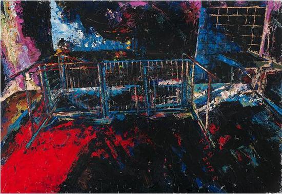 饶松青《遗忘的空间》 布面油画 160 x 130 cm 2015