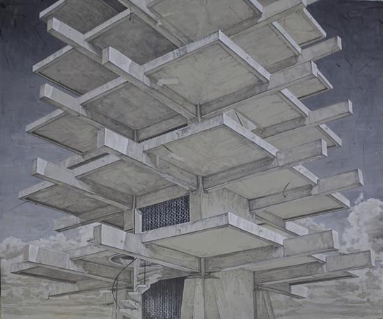 彭方山 《Social ladde-上升阶梯》 布面丙烯  150X180cm   2015
