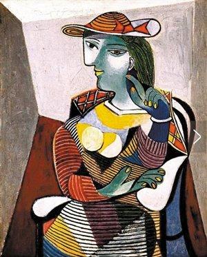 毕加索的《坐着的女人》