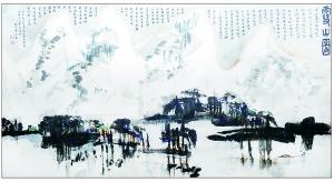 燕京书画社藏《雪山图》 黄永玉