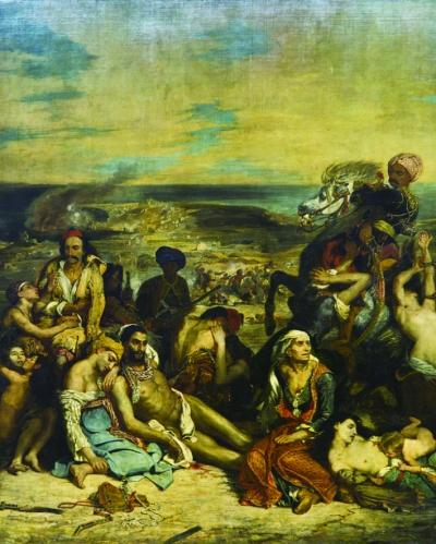 希俄岛大屠杀(油画)  1824年  德拉克洛瓦  巴黎卢浮宫藏