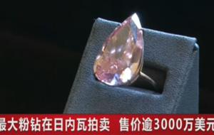 最大粉钻在日内瓦拍卖 售价逾3000万美元