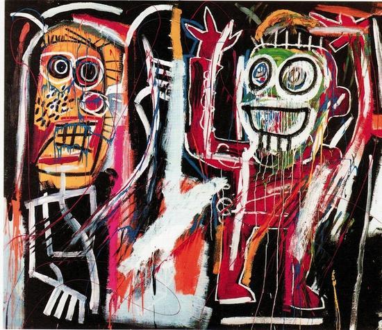 让-米歇尔·巴斯奎特(Jean-Michel Basquiat),《Dustheads》,1982 图片:Courtesy Christie`s