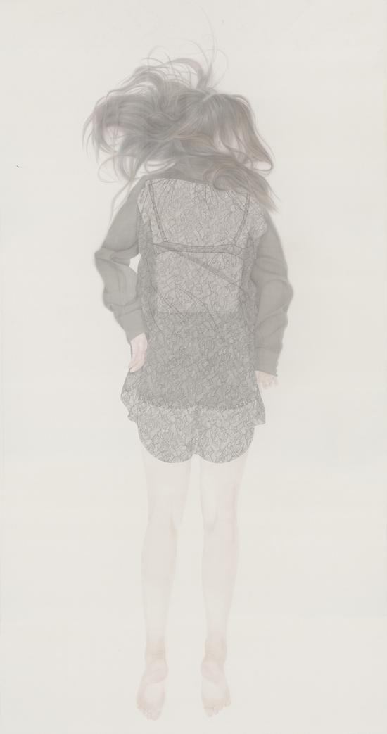 《若轻1》 240 x 130cm 绢本 水色 2014