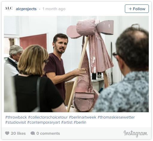 ALC 项目在进行艺术家工作室参观。#throwback #collectorschoicetour #berlinartweek #thomaskiesewetter #studiovisit #contemporaryart #artist #berlin