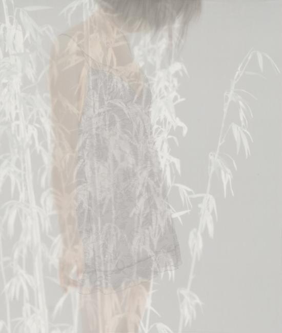 《之・间》 47 100x85cm 绢 水色 2014