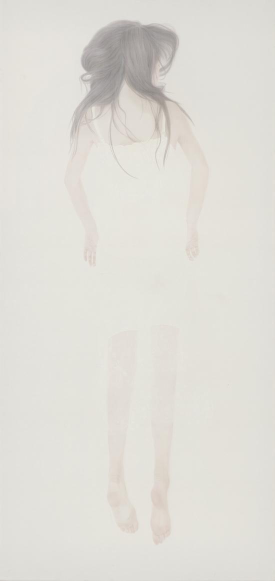 《若轻2》 240 x 130cm 绢本 水色 2014