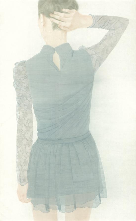 《香》 160 x 100cm 绢 水色 2012
