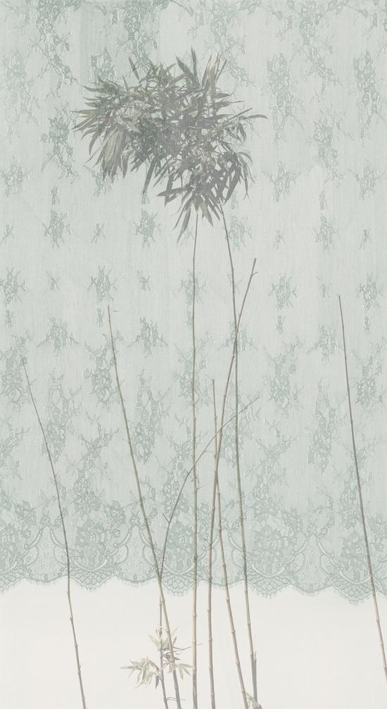 《丝图9》 200 x 110cm 绢本 水色 2016