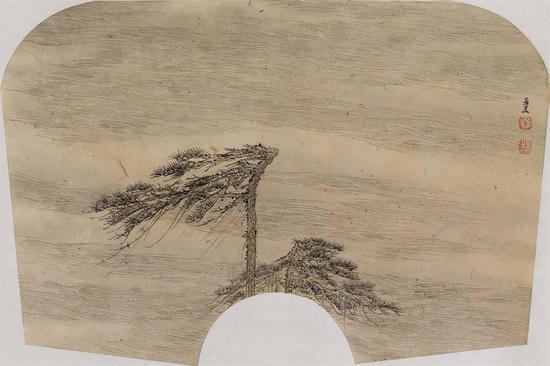 13、游心-4 29cm×43cm 纸本水墨 2014年