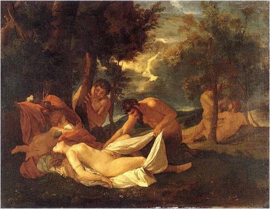 普桑,《沉睡的维纳斯和丘比特》
